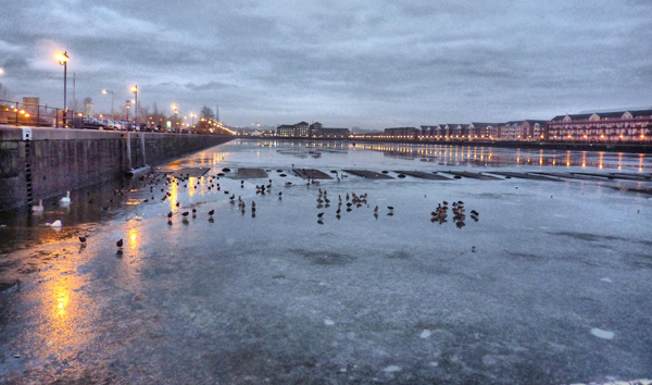 Preston Dock - frozen